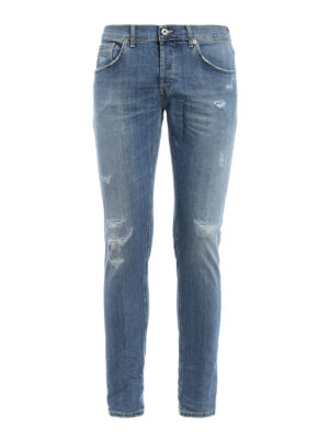 Dondup: skinny jeans - Ritchie scraped jeans