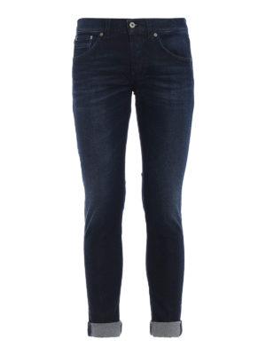 DONDUP: jeans skinny - Jeans skinny Ritchie in denim effetto slavato