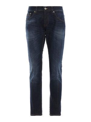DONDUP: jeans skinny - Jeans cinque tasche Ritchie in denim slavato
