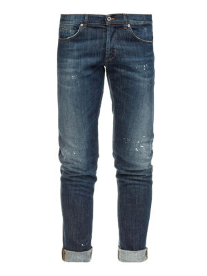 DONDUP: jeans skinny - Jeans cinque tasche in denim délavé