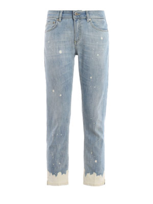DONDUP: skinny jeans - Stone washed detail Newdia jeans