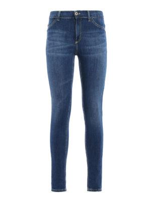 Dondup: skinny jeans - Stretch cotton five pocket jeans