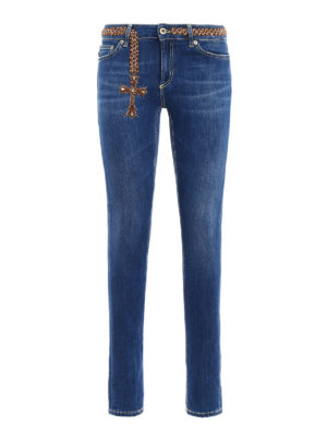 Dondup: skinny jeans - Tara embellished skinny jeans