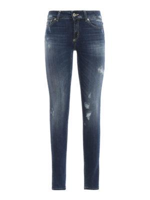 DONDUP: jeans skinny - Jeans skinny Tara in denim rovinato