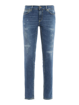 Dondup: skinny jeans - Tara worn out jeans