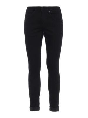 DONDUP: jeans skinny - Jeans neri George con vestibilità skinny