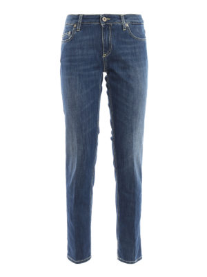 DONDUP: straight leg jeans - Bakony stretch denim jeans