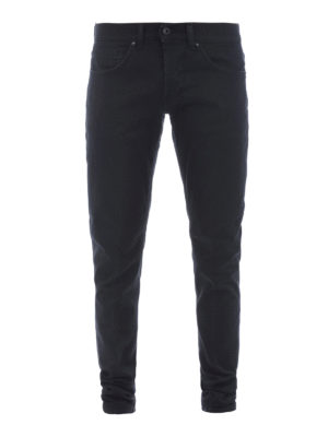 Dondup: straight leg jeans - George fake scraping denim jeans