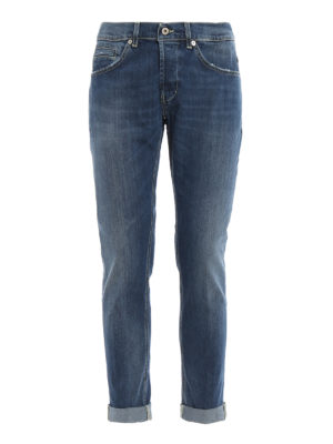 DONDUP: straight leg jeans - George skinny fit five pocket jeans