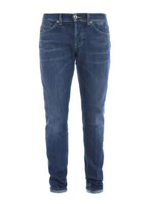 Dondup: straight leg jeans - George washed denim jeans
