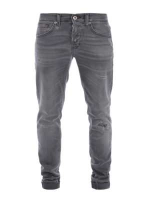 Dondup: straight leg jeans - George worn out jeans