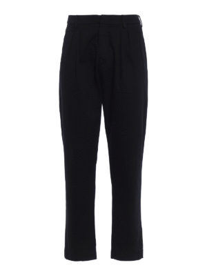 Dondup: straight leg jeans - Iconic low crotch cotton jeans