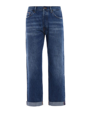 Dondup: straight leg jeans - Iconic mom fit jeans