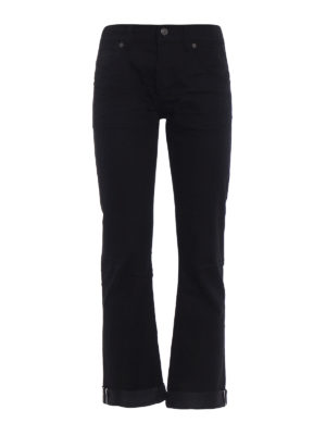 Dondup: straight leg jeans - Iconic stretch denim fabric jeans