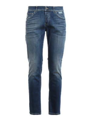 DONDUP: straight leg jeans - Mius faded jeans