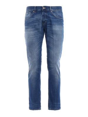 Dondup: straight leg jeans - Mius rigid denim slim jeans