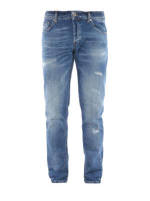 DONDUP: straight leg jeans - Mius scraped jeans