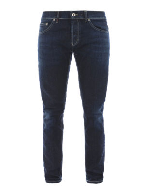 Dondup: straight leg jeans - Mius stretch denim slim jeans