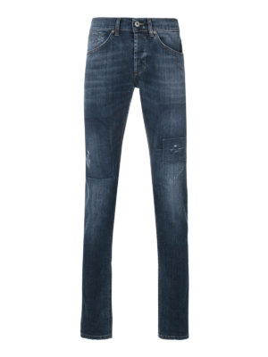Dondup: straight leg jeans - Mius stretch jeans