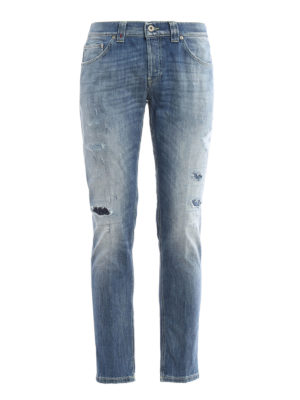 Dondup: straight leg jeans - Mius worn out jeans