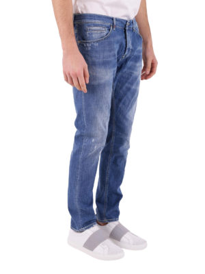 Dondup: straight leg jeans online - George low rise jeans