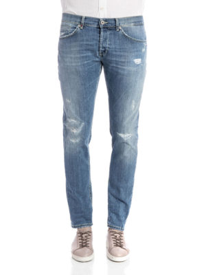 Dondup: straight leg jeans online - George worn out jeans