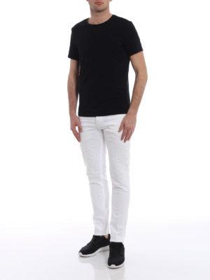 Dondup: straight leg jeans online - Mius crushed jeans with rips