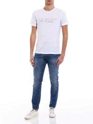 Dondup: straight leg jeans online - Mius rigid denim slim jeans