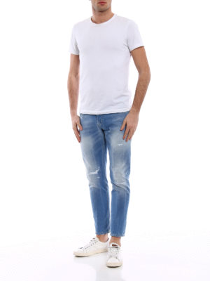 Dondup: straight leg jeans online - Mius rip detailed jeans