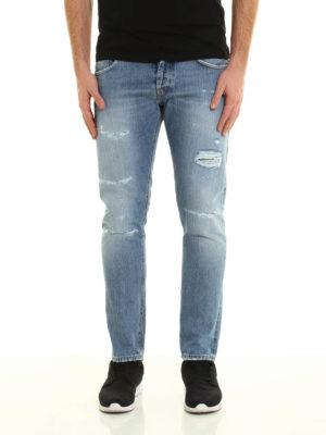 Dondup: straight leg jeans online - Mius scraped jeans