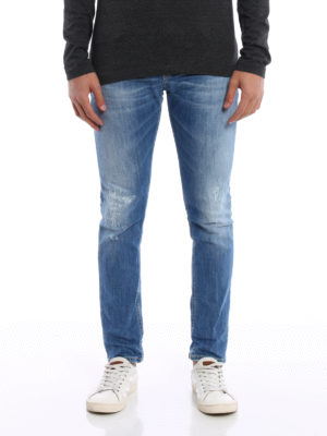 Dondup: straight leg jeans online - Mius scraped jeans