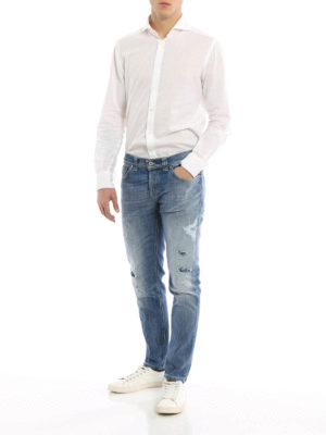 Dondup: straight leg jeans online - Mius worn out jeans