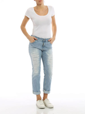 Dondup: straight leg jeans online - Paige worn out jeans