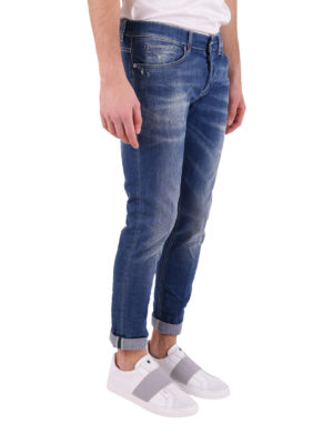 Dondup: straight leg jeans online - Stone washed five pocket jeans