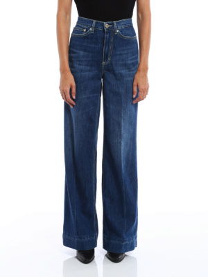 Dondup: straight leg jeans online - Supply wide leg cotton blend jeans