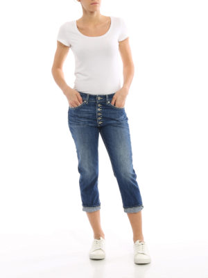 Dondup: straight leg jeans online - Surie crop low waist jeans