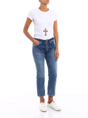 Dondup: straight leg jeans online - Surie low crotch crop jeans