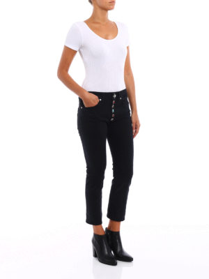 Dondup: straight leg jeans online - Surie low crotch crop jeans