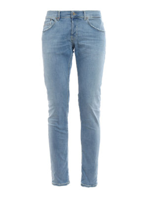 Dondup: straight leg jeans - Ritchie light wash skinny jeans