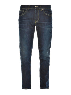 Dondup: straight leg jeans - Stretch cotton denim jeans