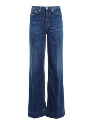 Dondup: straight leg jeans - Supply wide leg cotton blend jeans
