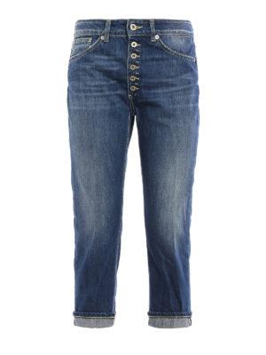 Dondup: straight leg jeans - Surie crop low waist jeans