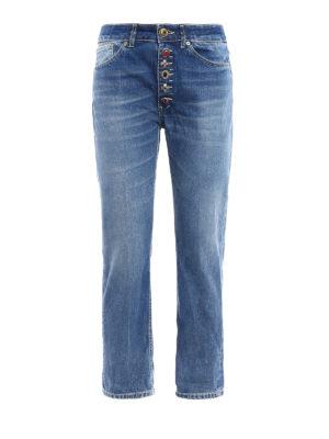 Dondup: straight leg jeans - Surie low crotch crop jeans