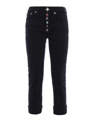 Dondup: straight leg jeans - Surie low crotch crop jeans