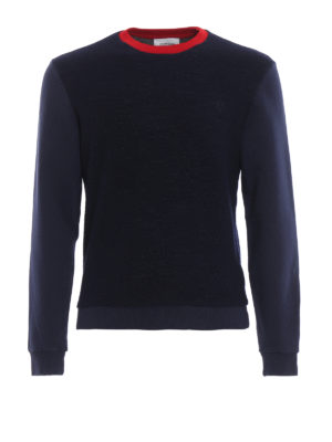 DONDUP: Felpe e maglie - Felpa blu in misto lana e cotone