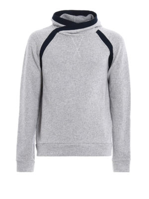 Dondup: Sweatshirts & Sweaters - Cotton and wool blend hoodie