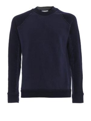 DONDUP: Felpe e maglie - Felpa girocollo in lana e jersey di cotone