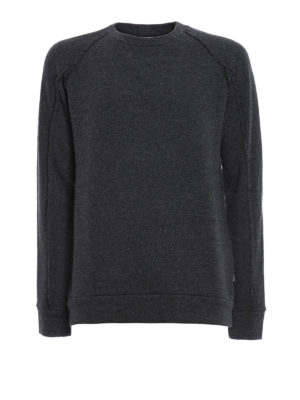 Dondup: Sweatshirts & Sweaters - Melange cotton and wool sweater