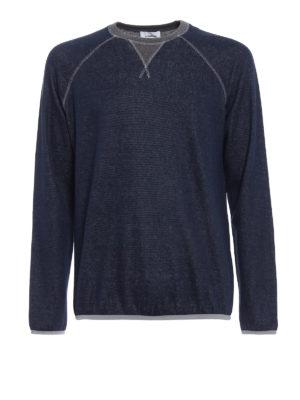 Dondup: Sweatshirts & Sweaters - Nasso blue grey sweatshirt