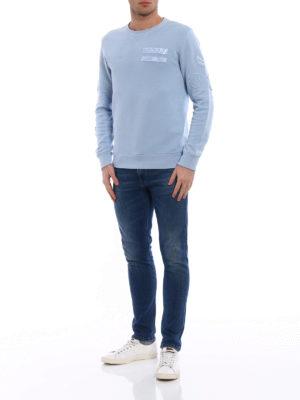 Dondup: Sweatshirts & Sweaters online - Amry light blue crew neck sweat